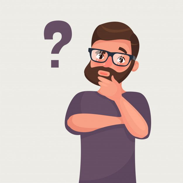 Thinking Beard Hipster Businessman With Question Mark Com Imagens