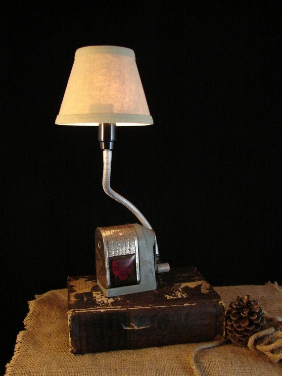 Upcycled Pencil Sharpener Lamp ApscoChicago by BenclifDesigns, $70.00
