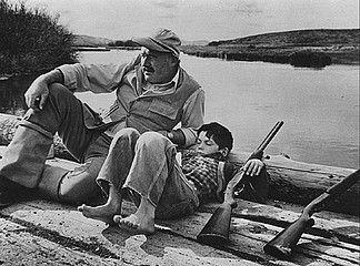 Robert Capa: Ernest Hemmingway, Sun Valley, 1941. -Nikki Glazer of GrayBarns on the Silvermine River.