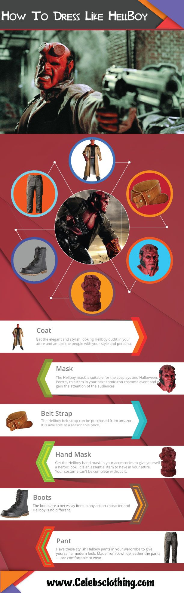 #Hellboy #Costume #Guide with #Infographics