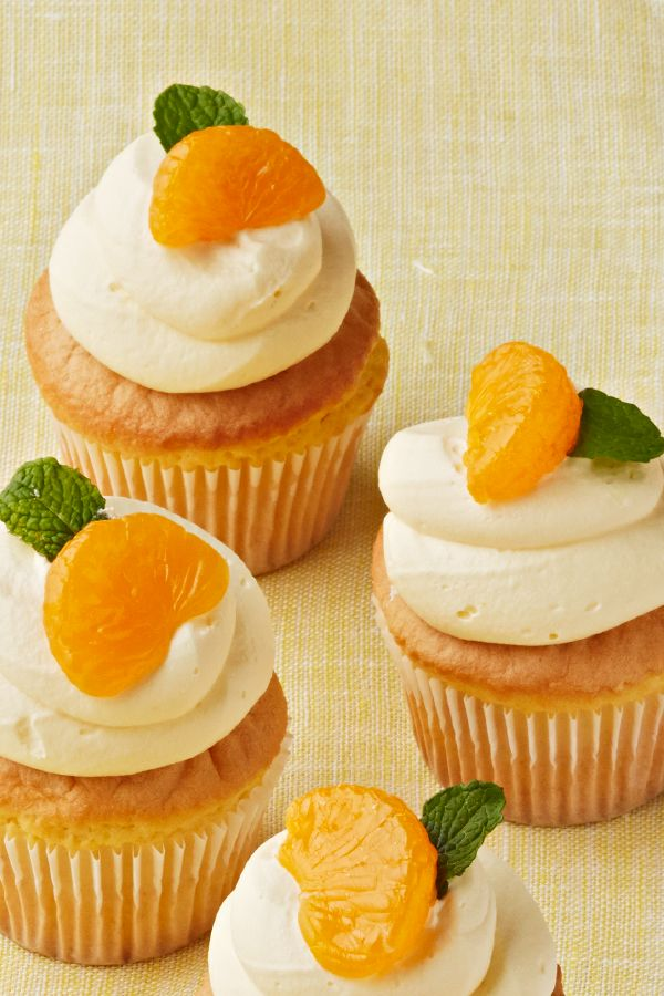 Triple-Orange Cupcakes – Fresh citrus flavor is the star of these spring cupcakes. Just in time for your next party, this dessert recipe is sure to do the trick.