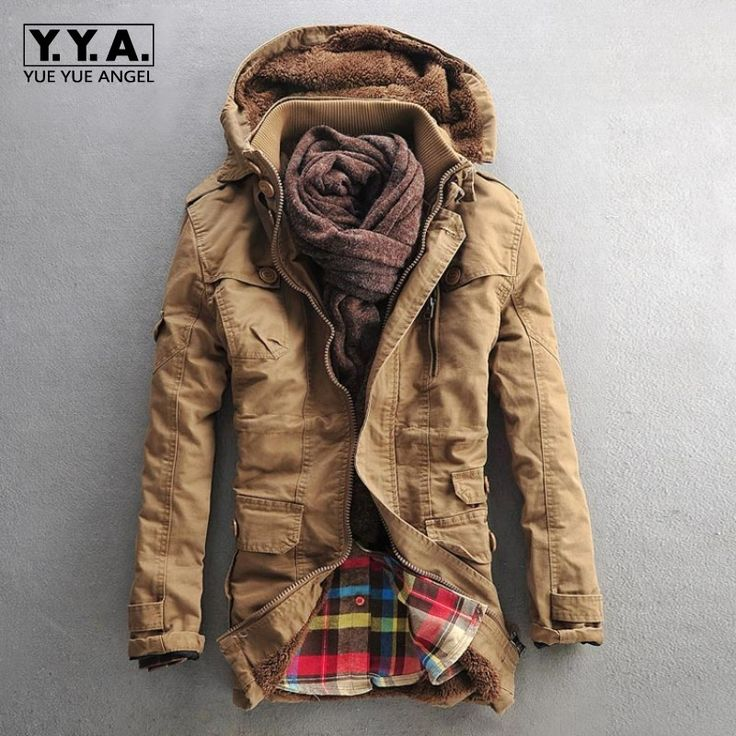 Top Winter Mens Fashion Fur Hooded Winter thick cotton-padded jacket lambs wool overcoat Velvet Warm Coats For Male Size M-5xl -*- AliExpress Affiliate's buyable pin. Item can be found  on www.aliexpress.com by clicking the image