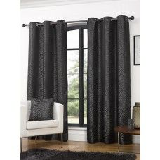 46x54in (117x137cm) Africa Animal Ebony Black Eyelet Curtains