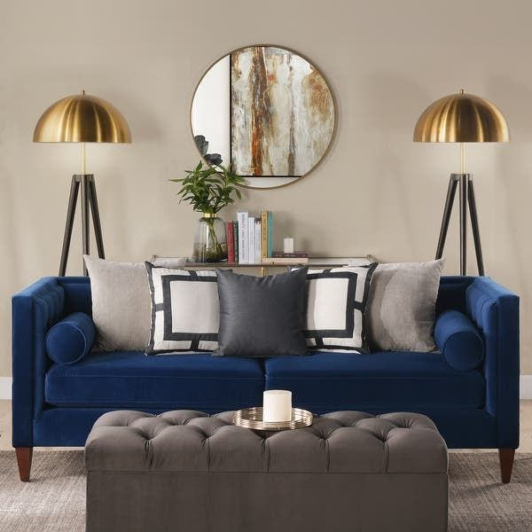 Overstock Com Online Shopping Bedding Furniture Electronics Jewelry Clothing More Blue Living Room Decor Blue And Gold Living Room Blue Sofas Living Room