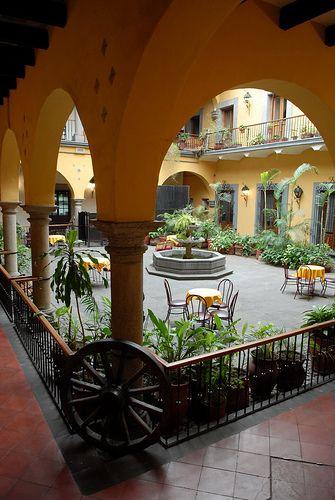 Mexican decor: Interior courtyard Mexico
