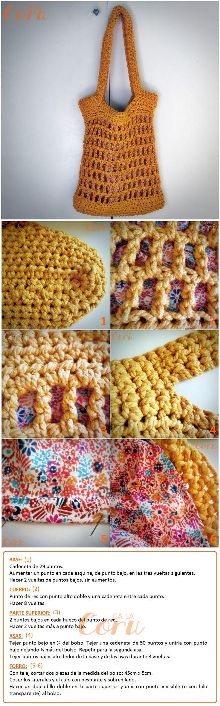 Bolso de cuerda calado http://calacoru.blogspot.com.es/2013/08/bolso-de-cuerda-calado.html