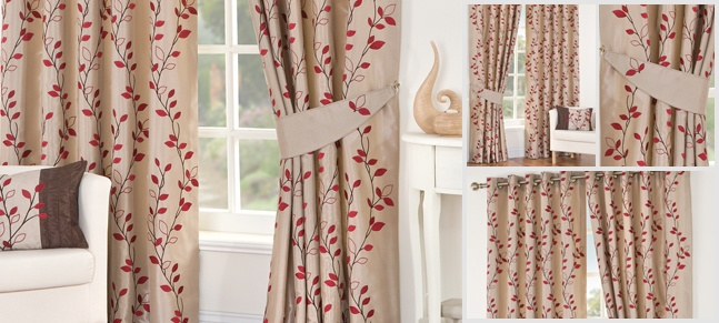 buy red osaka lined eyelet curtain collection online. Black Bedroom Furniture Sets. Home Design Ideas