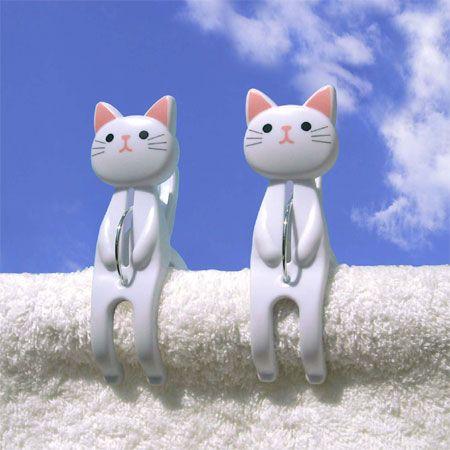 Cats Clothespin   |   洗濯バサミ ねこのおすわり洗濯ばさみ