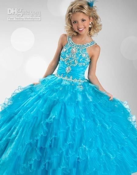 Newest Flower Girl Dress Princess Kids Pageant Party Gown Custom 2 4 6 8 10 12+