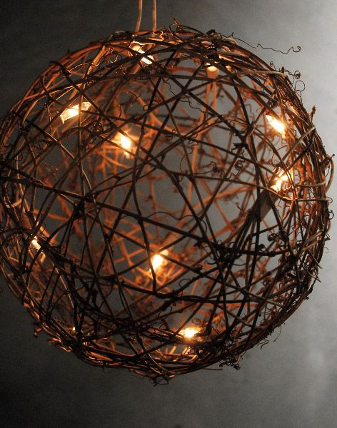 "Grapevine Ball Lights 9"" Outdoor Party Lighting http://pinterest.com/wineinajug/outdoor-party-lighting/"