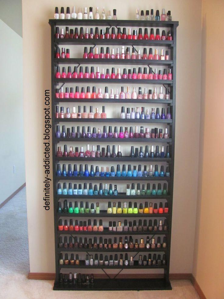 17 best images about nail polish storage organization. Black Bedroom Furniture Sets. Home Design Ideas