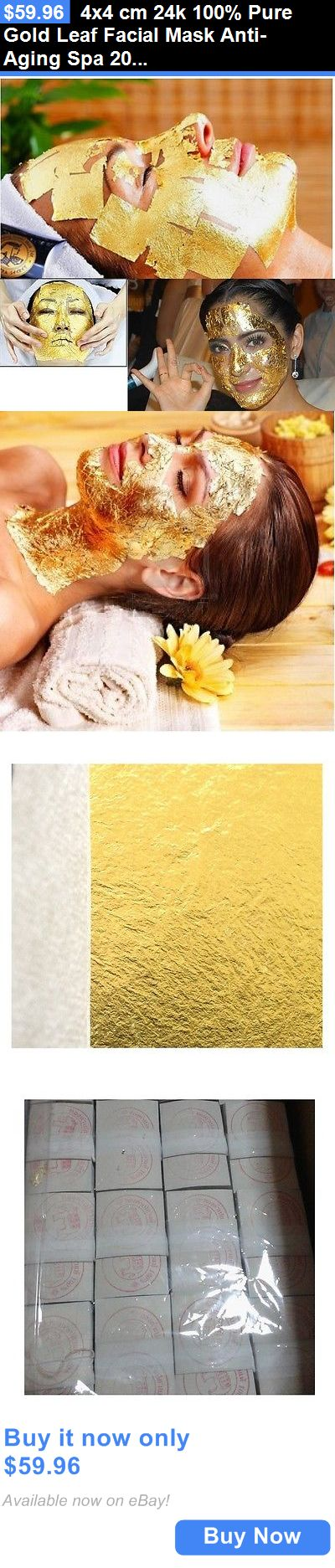 wholesale Skin Care: 4X4 Cm 24K 100% Pure Gold Leaf Facial Mask Anti-Aging Spa 200 Sheets BUY IT NOW ONLY: $59.96