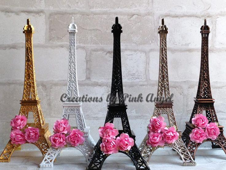 10 pulgadas Eiffel torre central torre de Eiffel de negro