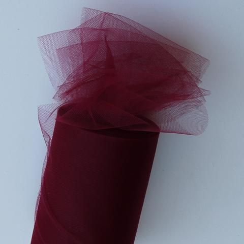 Tulle Roll - Burgundy tulle roll - 6 inches - 100 yard - Maroon rolls - tulle rolls -  wedding decor -  tulle roll - Tulle Spool 100 yard