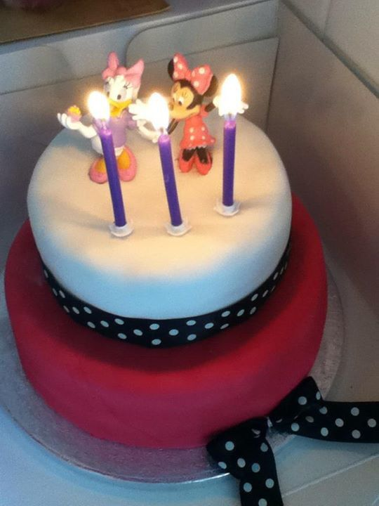 Minnie Mouse two tier cake