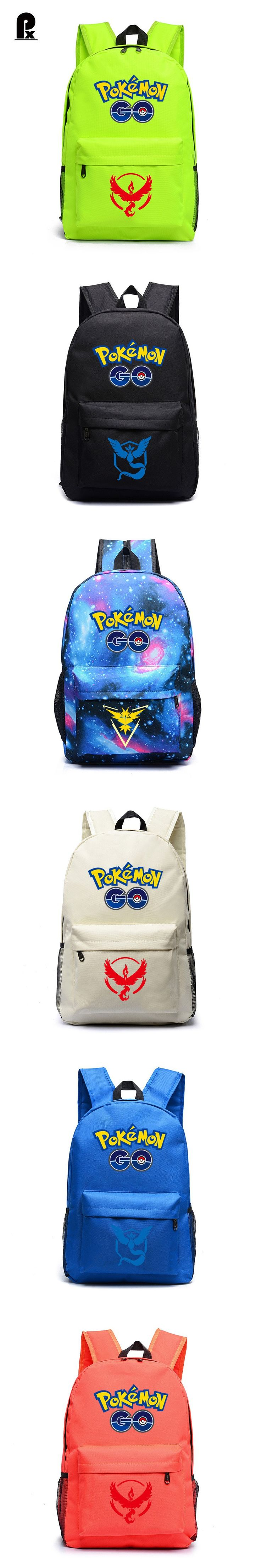 New Hot Sale shoulder bags Anime Pokemon Backpack Boys Girls School Bags Pikachu Printing kids bags for Teenagers Mochila canta $33.31