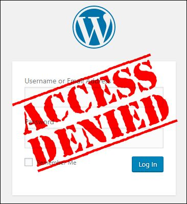 Can't access your WordPress admin area?