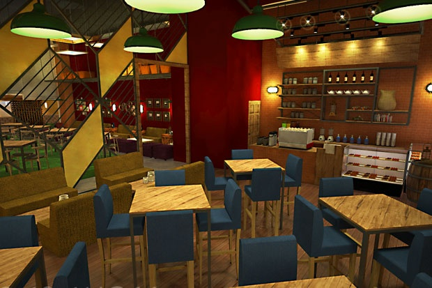 Title : Concept design interior Sabang16 Coffeeshop Category: Interior Commercial Design by: Rangga Wibisono