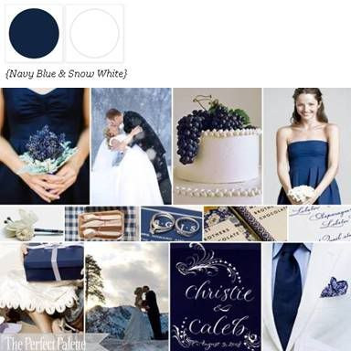 winter navy blue wedding ideas