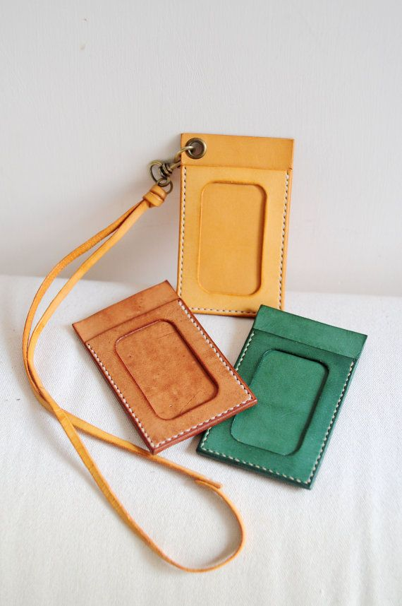 Hand Stitched Light Leather Card Holder/ by ArtemisLeatherware