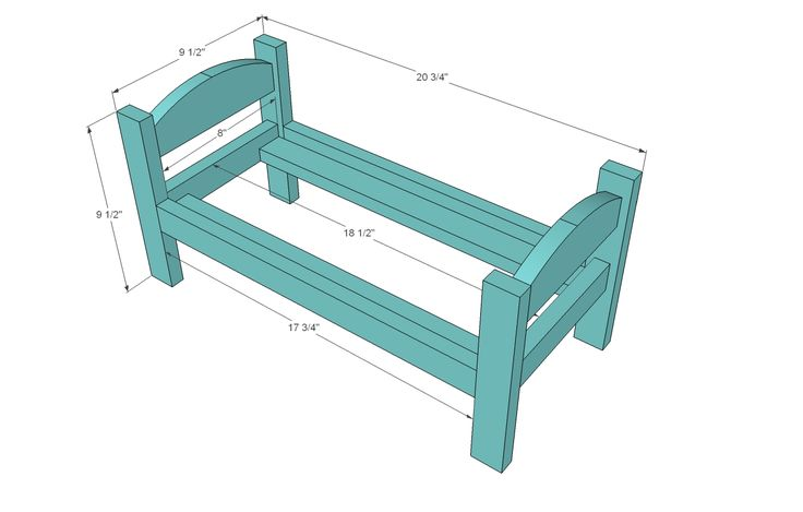 18 inch doll bed plans | ... Kid's Kit: Doll Bed | Free and Easy DIY Project and Furniture Plans