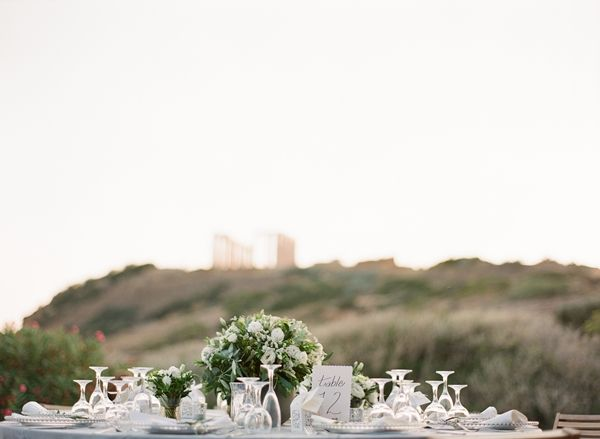 Olive branch theme wedding in Athens | Classy Athens wedding in Sounio