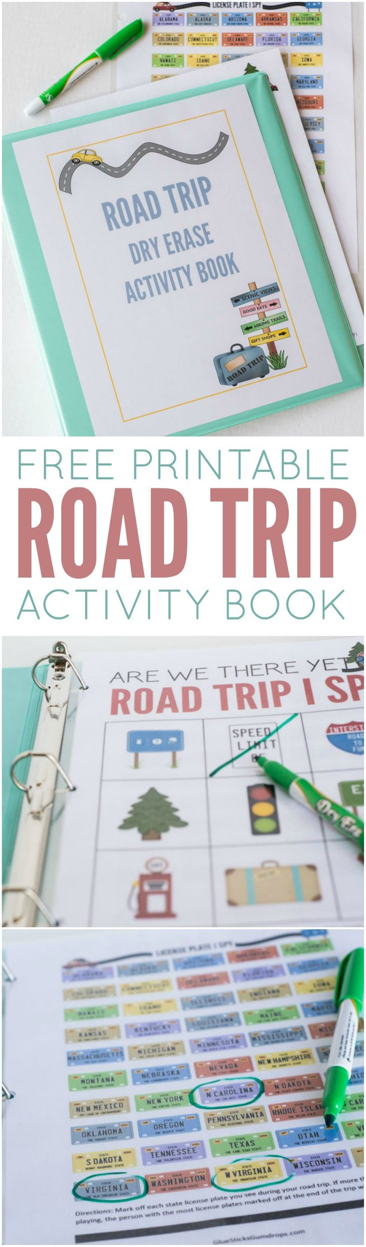 This dry erase road trip activity book is the perfect way to keep kids entertained during a long car ride!   #ad #FRAMFreshBreeze