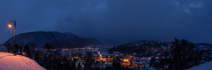 Winter in Brasov, panoramic view from Cetatea Brasov.  January 2015.  © www.asoimu.com