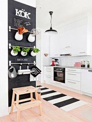 Een krijtbord in de keuken | 365 Woonideeën