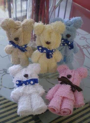 Recuerdos ositos de toalla aris pinterest babies for Adornos con toallas