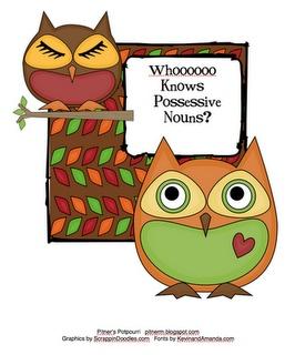 Possessive Nouns Center: Pitner Potpourri, Sorting Languageart, Nouns Sorting, Classroom Freebies, Possessive Nouns, Language Art, Owl Theme, Teaching Ideas, Classroom Ideas
