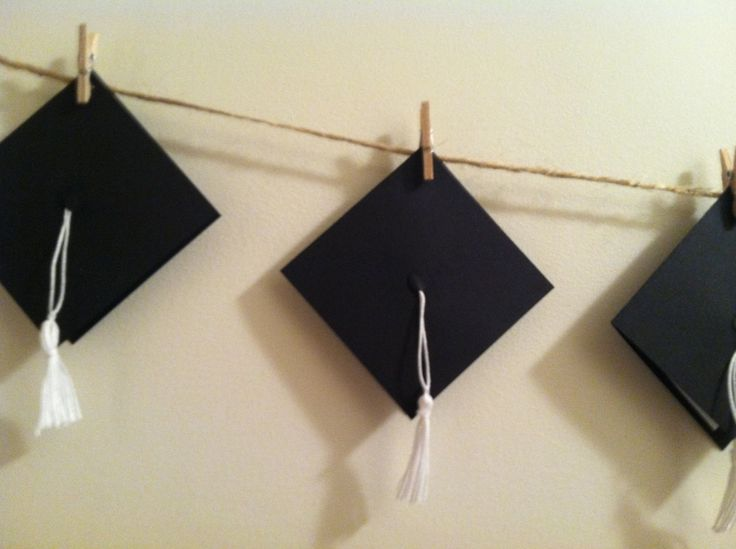 Graduation Cap Hat Advice Message Banner - DIY Garlands for 2014 ...