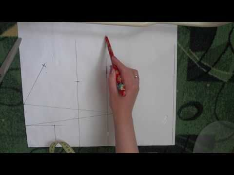 Простой способ построения базовой выкройки полочки и спинки!!! - YouTube