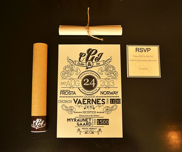 Wedding Invitations sent in Mailing Tubes