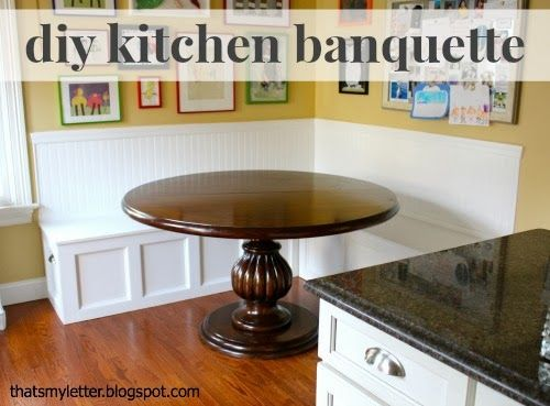 """That's My Letter: """"B"""" is for Banquette, diy built in kitchen banquette seating"""