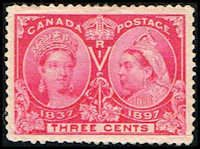 Canada #53 Stamp for sale  3 cents Diamond Jubilee Stamp  60th Year of Queen Victoria's Reign  N CA 53-1