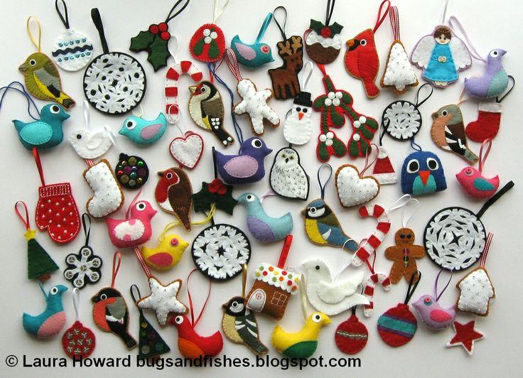 85 best Crafts: Felt Christmas ornaments! images on Pinterest ...
