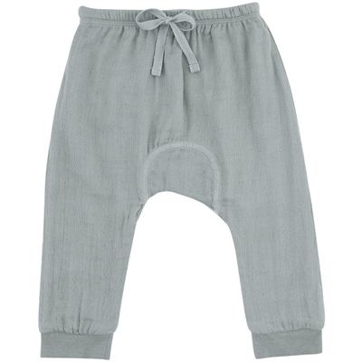 Konges Sløjd bukser, muslin - Dust Green. Køb hos Naturebaby