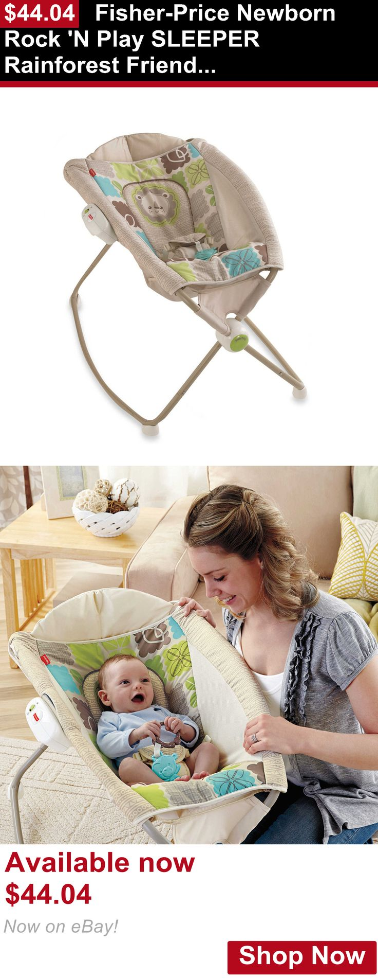 Baby bouncers and vibrating chairs: Fisher-Price Newborn Rock N Play Sleeper Rainforest Friends, Baby Bouncer BUY IT NOW ONLY: $44.04