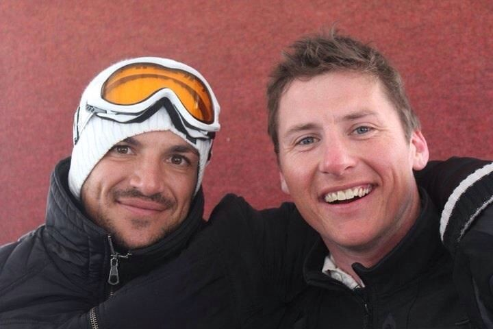 Skiing with Peter Andre in Courchevel