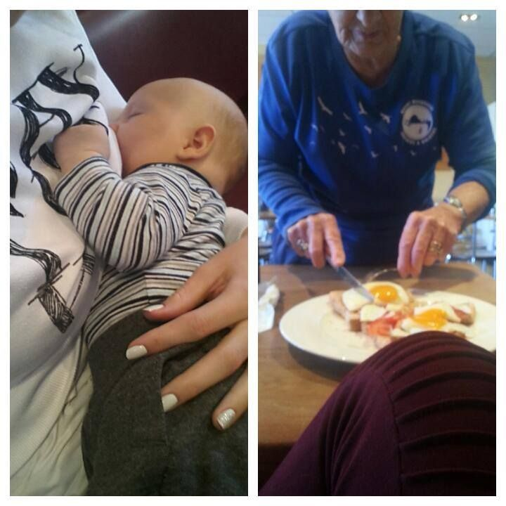 """What a sweet story! The world would be a much better place if we were all a little kinder to each other. <3 -Birthways, Inc.  """"Just wanted to share this really sweet moment I had this morning.  Today was the first time I went out for breakfast alone with my 8 week old son, I had just received my breakfast and hot chocolate when Jaxon started crying wanting his booby so of course I fed him, after a few minutes this older lady walked up to me, I was scared, thinking she was gonna tell me to pu"""