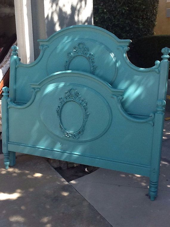 Hey, I found this really awesome Etsy listing at http://www.etsy.com/listing/175591837/vintage-french-provincial-queen-bed-by