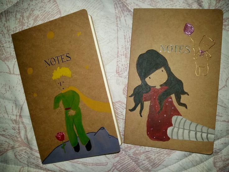 Notebooks painted ☆LITTLE PRINCE ☆ GORJUSS • handmade