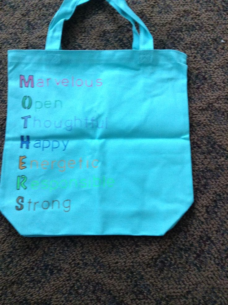 Tote bag gift for mom using stencils fabric markers and ...