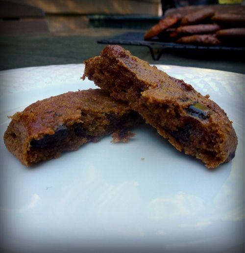 One Bowl Pumpkin Chocolate Chip Cookies...vegan, gluten-free, dairy-free...squishy, sweet, and wonderful!