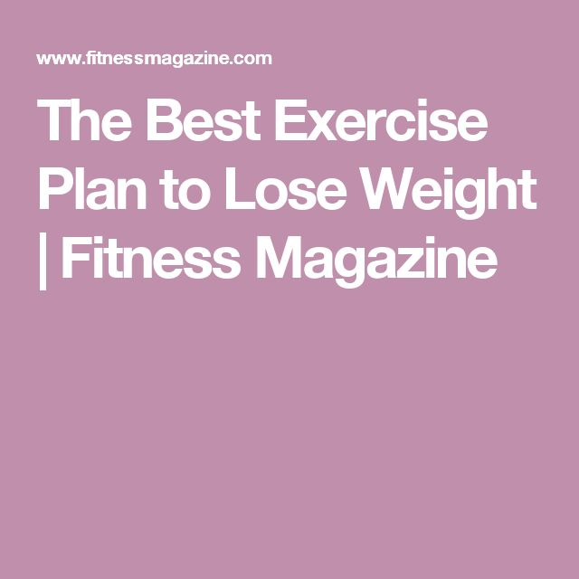 The Best Exercise Plan to Lose Weight | Fitness Magazine