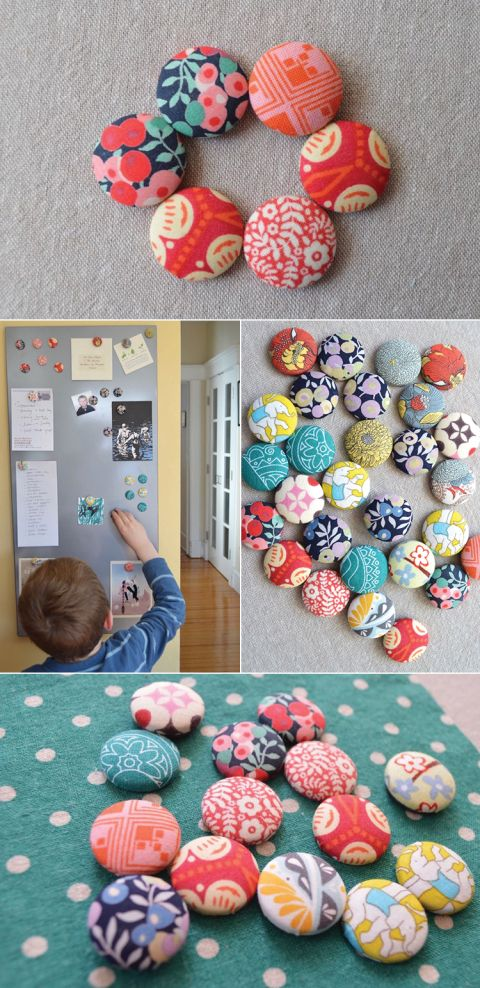 How to make fabric magnets - DIY