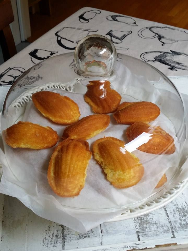 Delicious madeleines made by Cristiana!