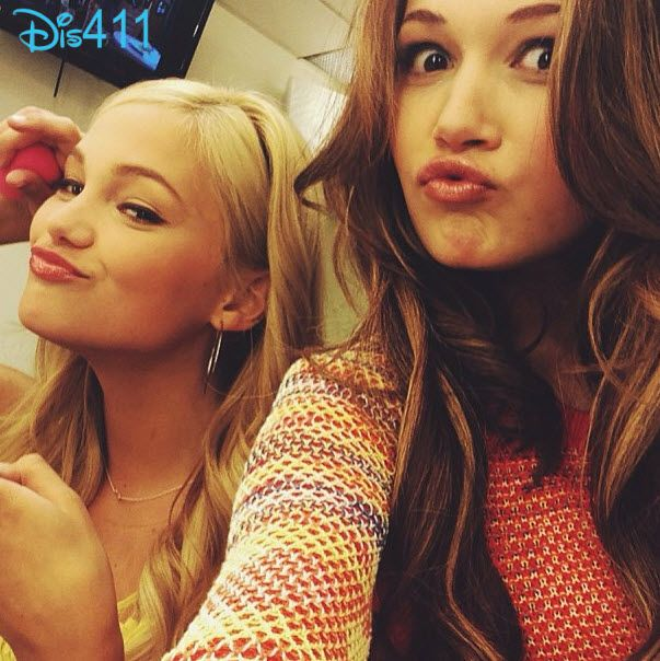 Olivia Holt, Kelli Berglund And Leo Howard Together May 20, 2013