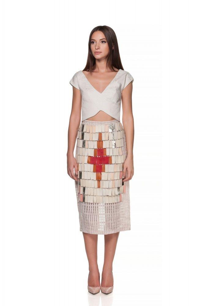 Maria Alina Margulescu – Borangic Skirt with Leather